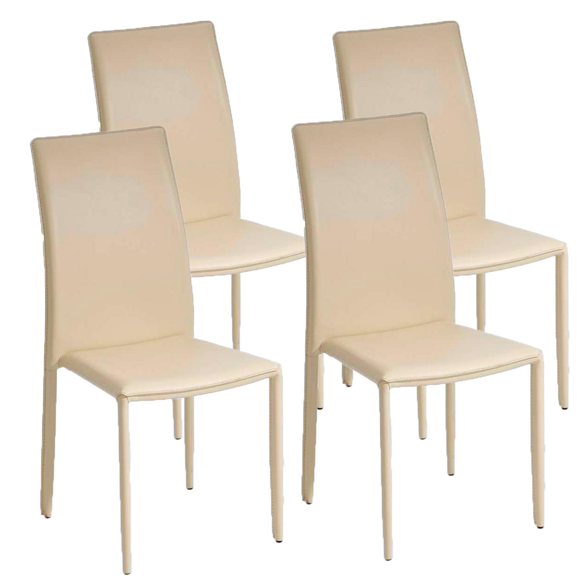 Lote 4 sillas de comedor o cocina alena apilables color - Sillas comedor colores ...