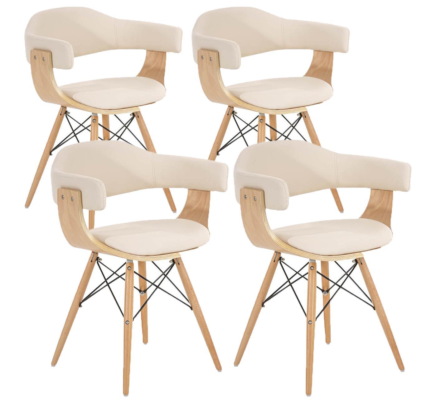Lote 4 sillas barry precioso dise o moderno en madera y for Sillas de diseno moderno