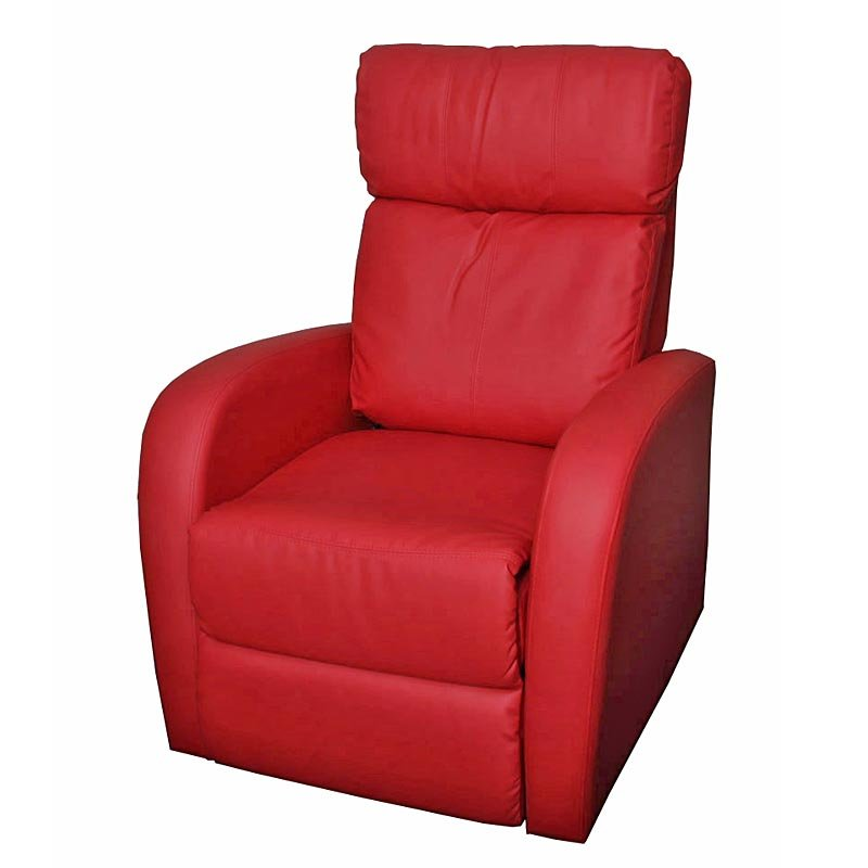 Sill n relax reclinable m47 en polipiel rojo sill n relax reclinable m47 comodidad m xima en - Sillon individual relax ...