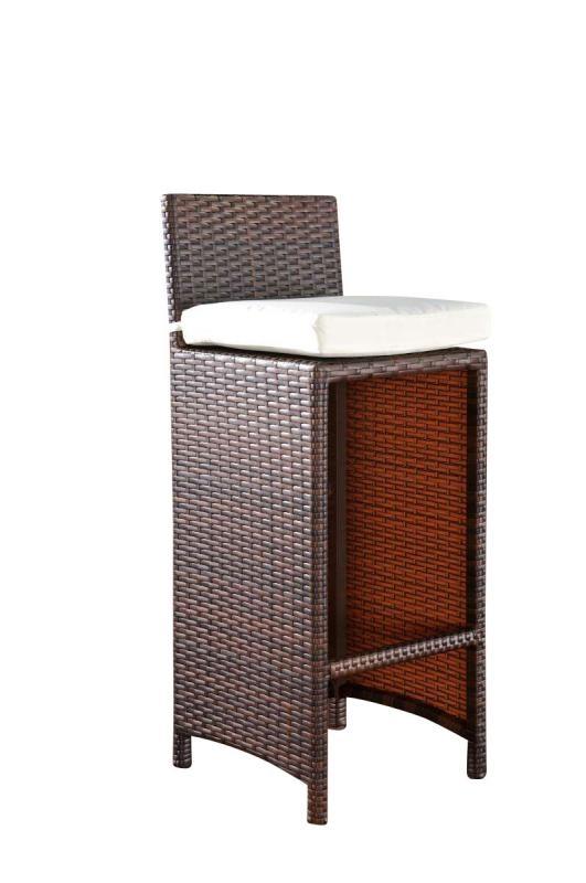 Taburete para jard n o terraza linux en poly rattan color for Terraza rattan oferta