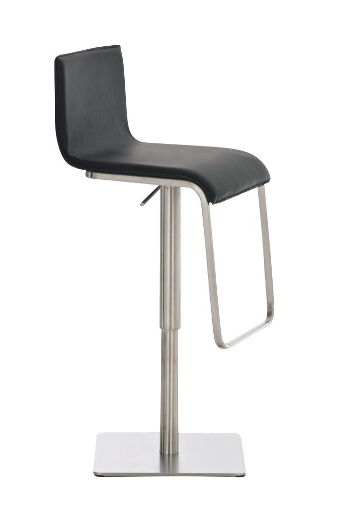 Taburete para Bar o Cocina EVA, estructura en acero, exclusivo diseño,  altura ajustable, en piel negro