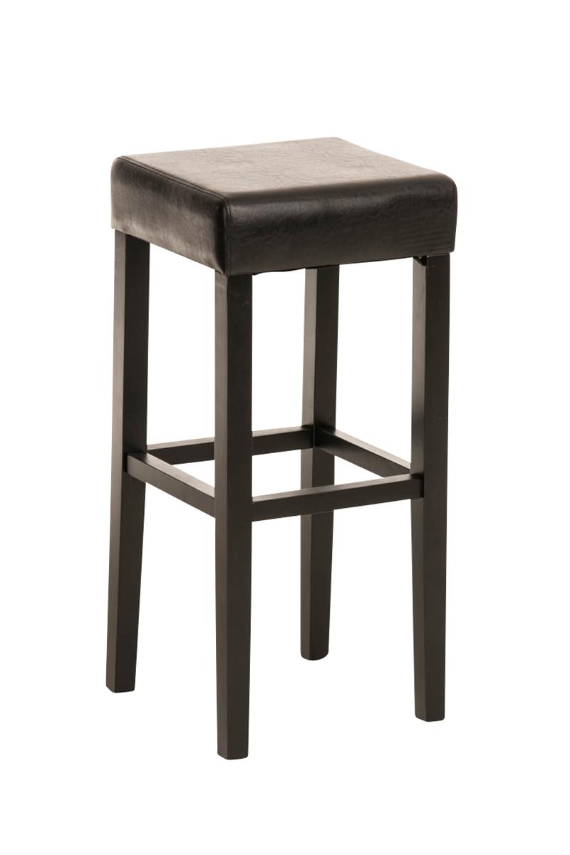 Taburete de Madera diseño LOLA, altura asiento 80cm en madera negra ...