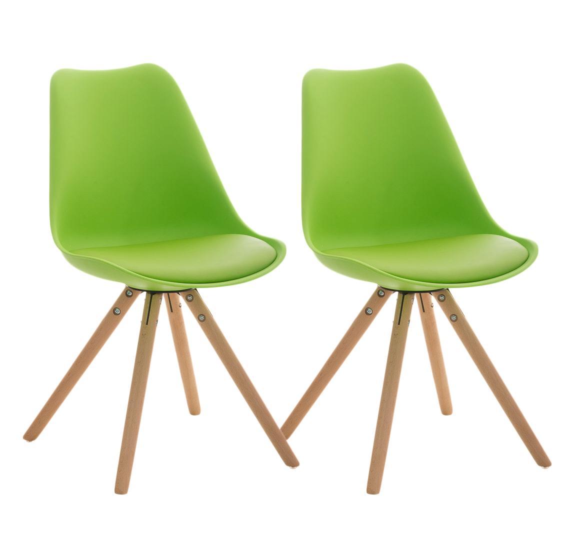 Lote 2 sillas TAYLOR, gran diseño, color verde - Lote 2 Sillas ...
