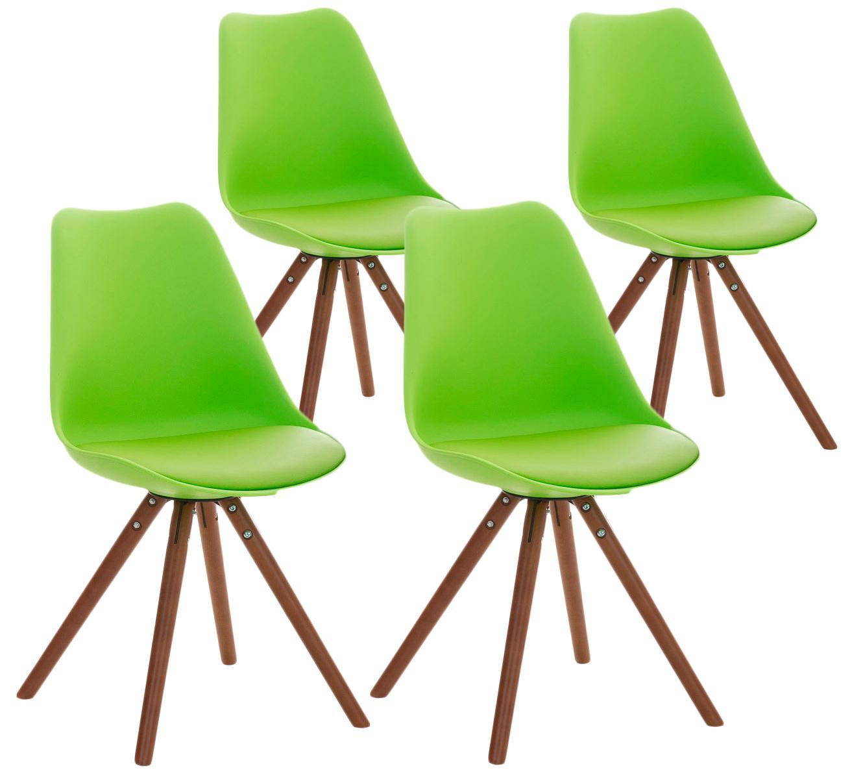 Lote 4 sillas TAYLOR, gran diseño, color verde y patas oscuras ...