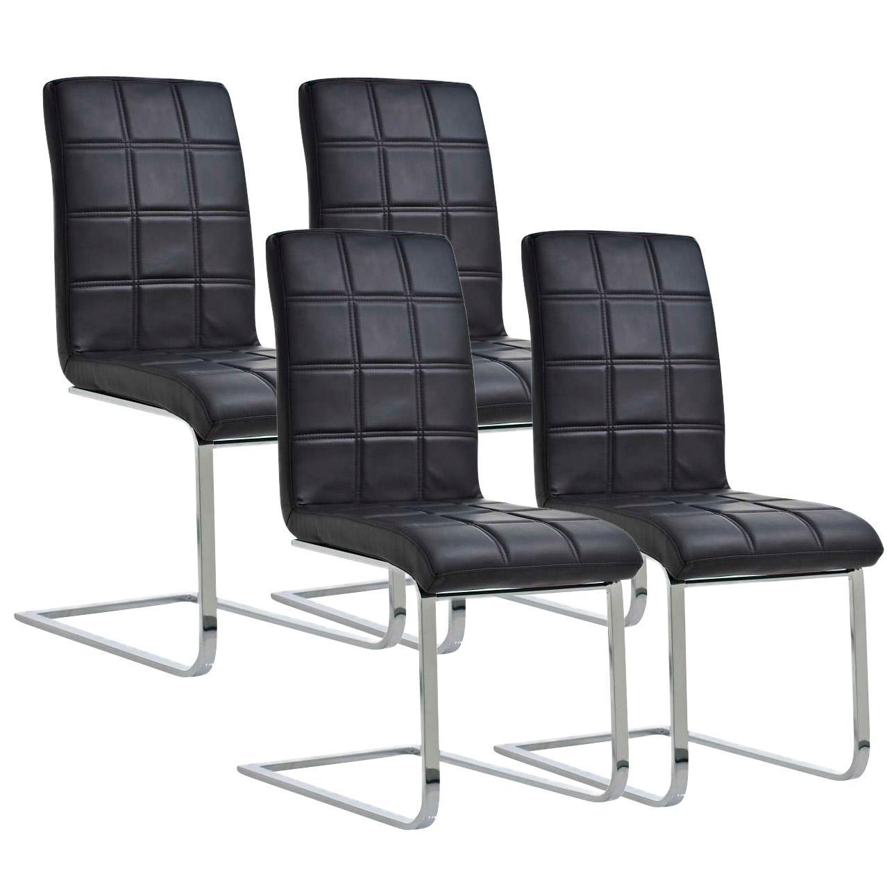 Lote 4 sillas de comedor o cocina bielsa dise o exclusivo for Sillas de piel para comedor