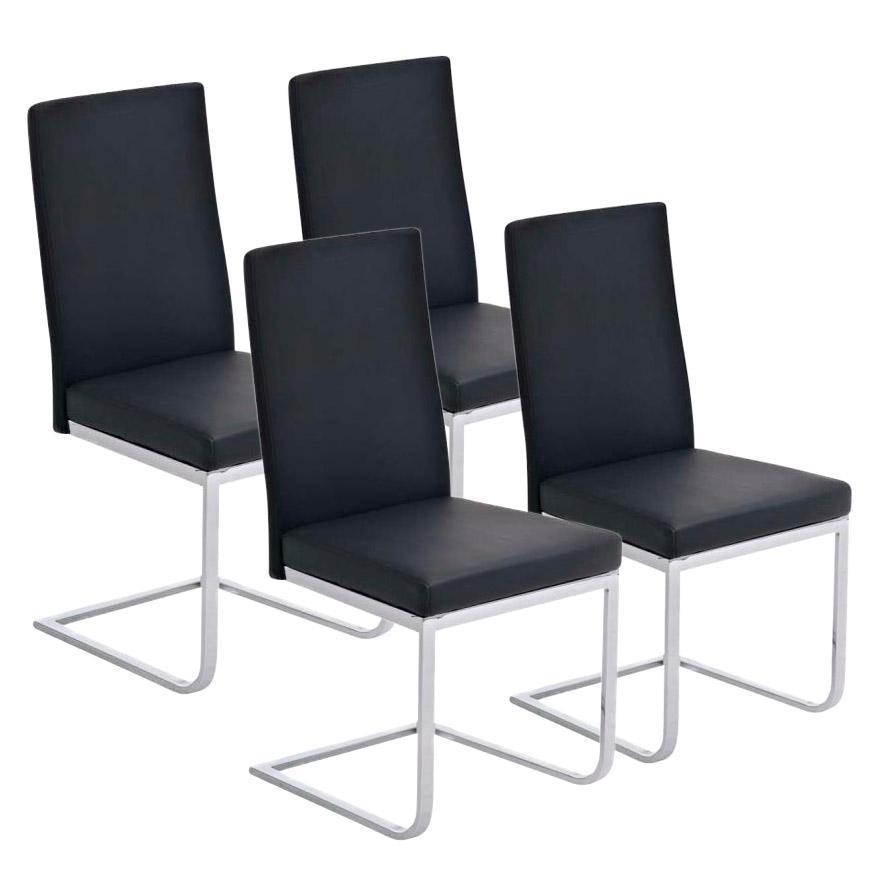 Lote 4 sillas de comedor o cocina aspe dise o atemporal for Sillas en piel para comedor