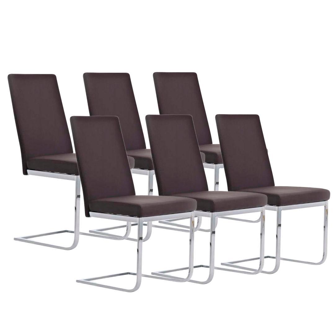 Lote 6 sillas de comedor o cocina aspe dise o atemporal for Sillas comedor cuero marron