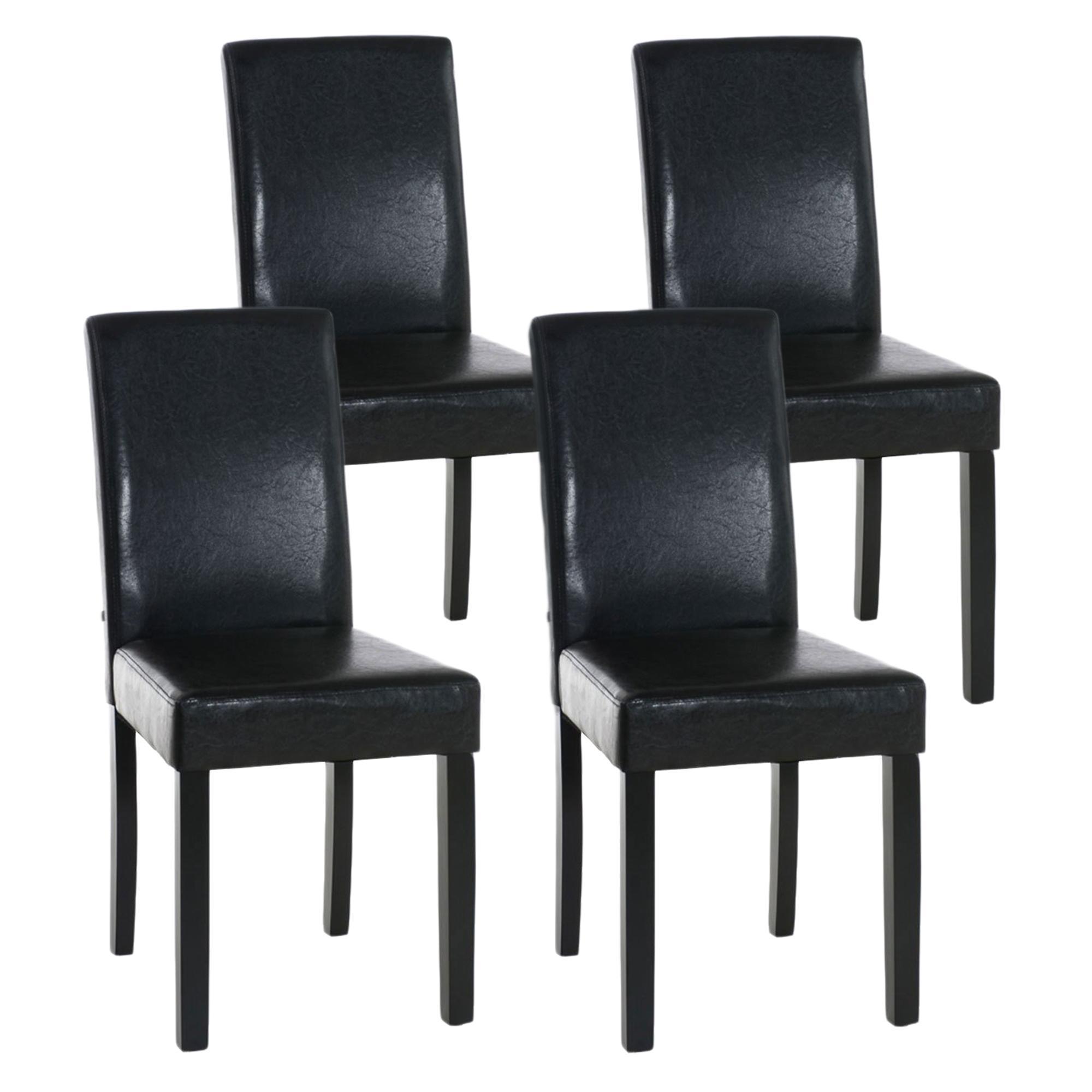 Lote de 4 sillas de comedor capri muy c modas y robustas for Sillas de cuero para comedor