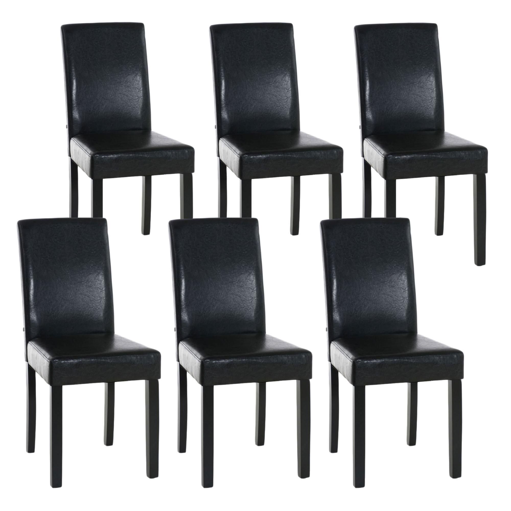 Lote de 6 sillas de comedor capri muy c modas y robustas for Sillas de comedor de piel