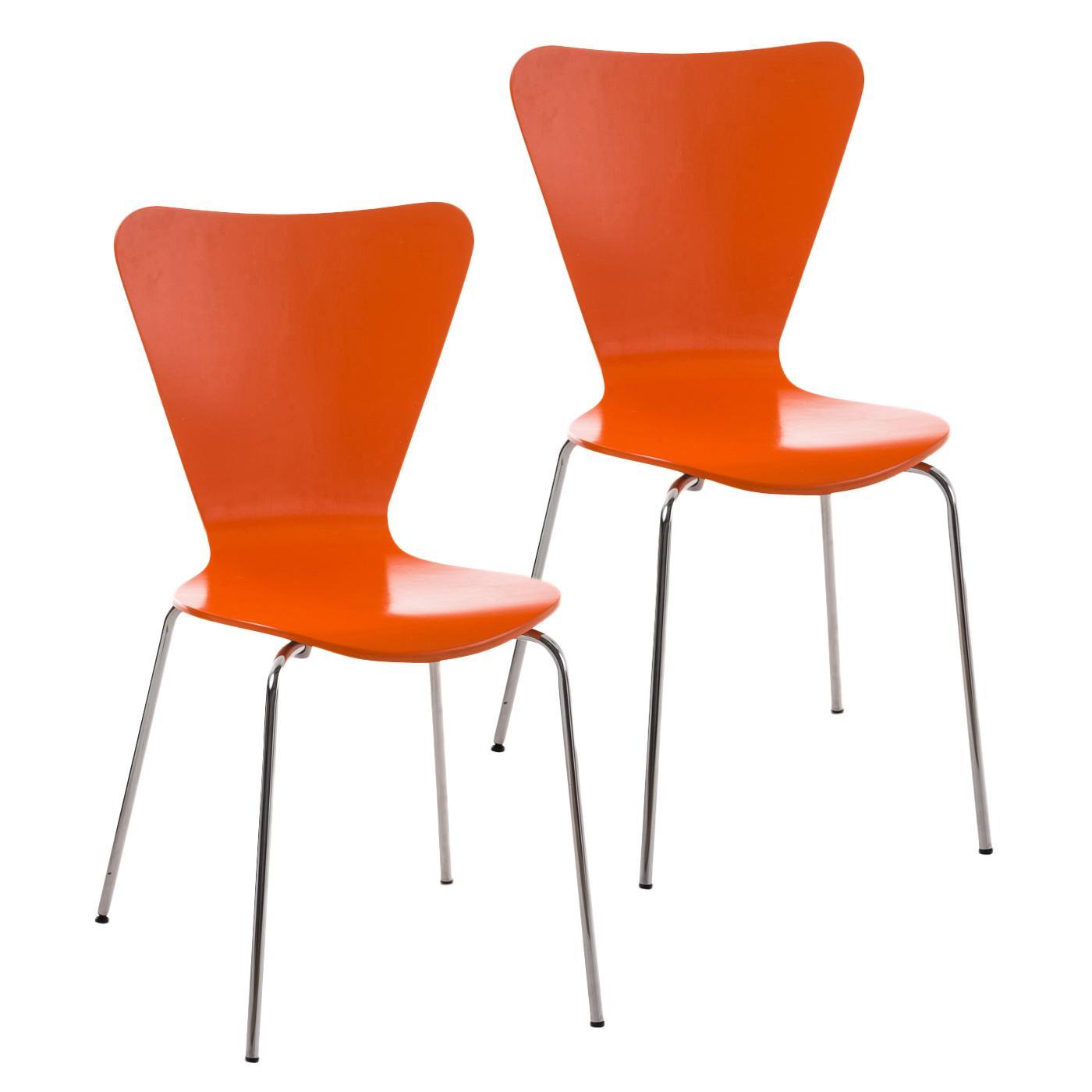 Lote 2 sillas de cocina o comedor lerma en naranja lote for Sillas de cocina comedor