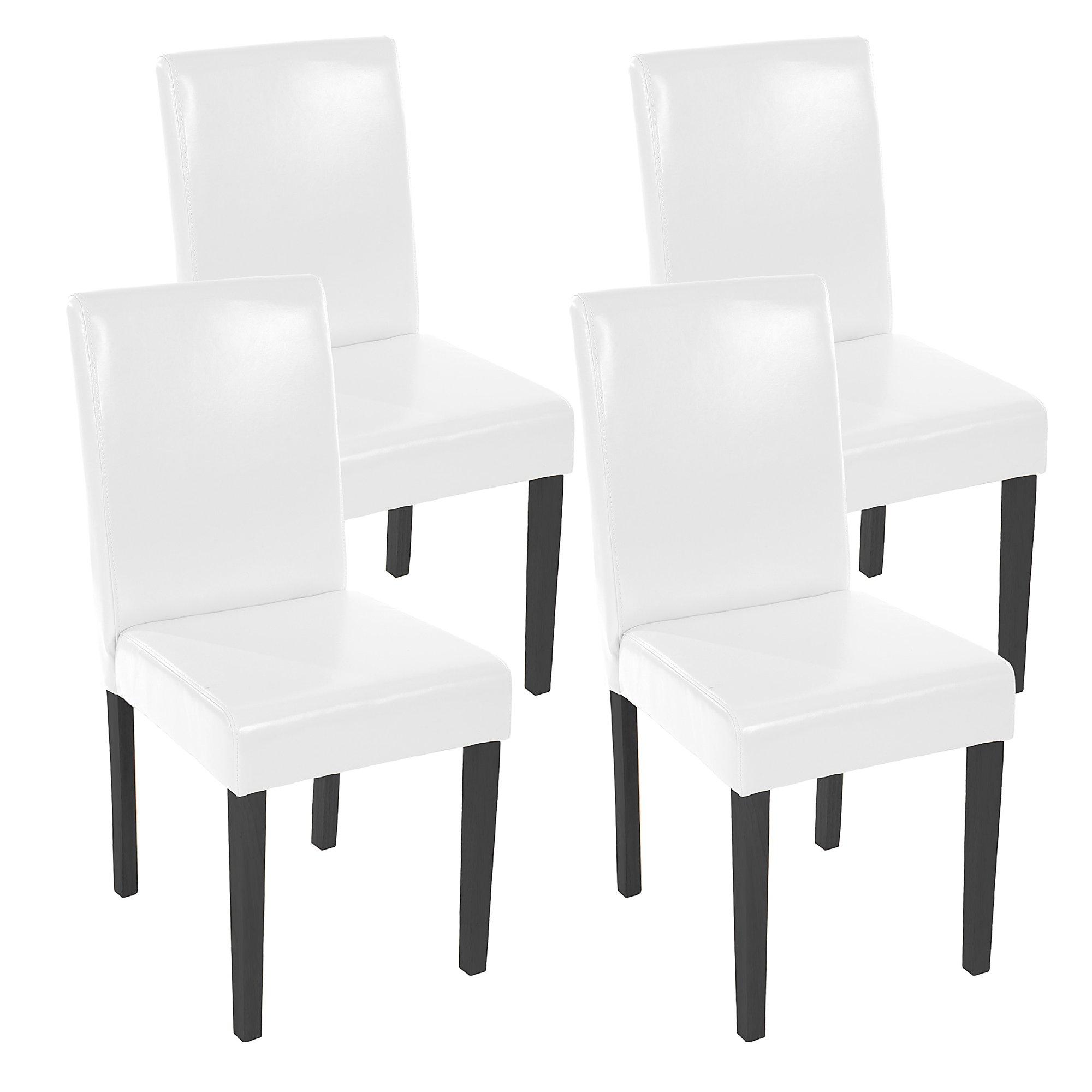 Demo lote 4 sillas de comedor litau precioso dise o for Sillas de piel blancas
