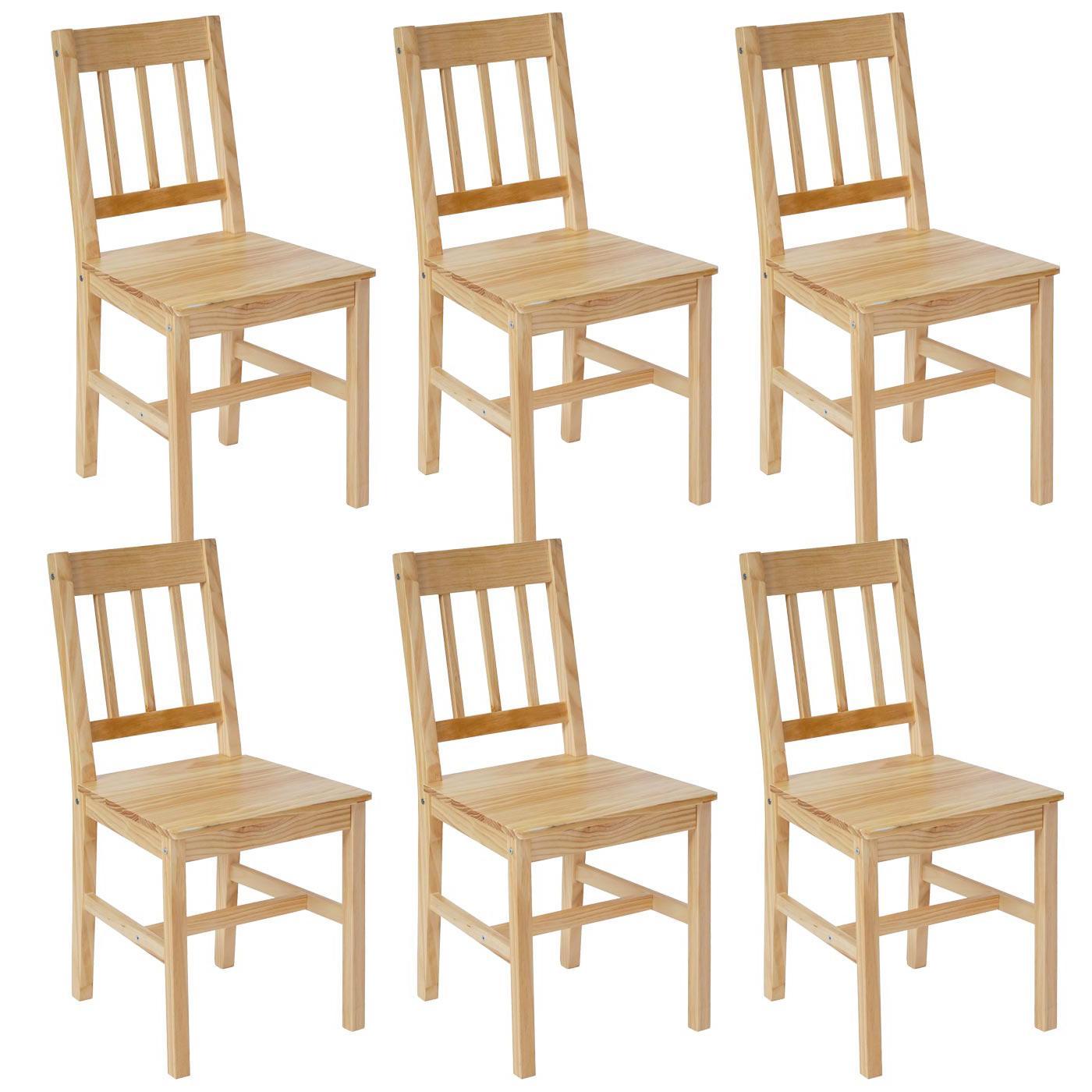 Lote 6 sillas de cocina o comedor nerja en marr n haya for Sillas comedor marron