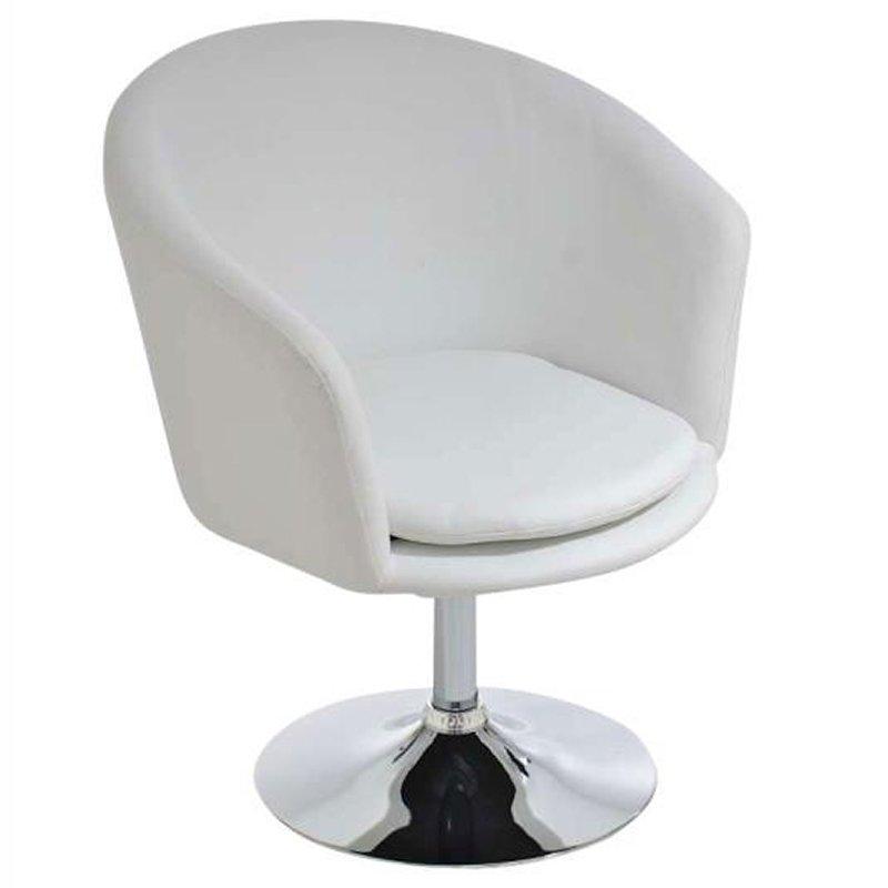 taburete-sillón c31 en polipiel blanco - taburete-sillón rotativo