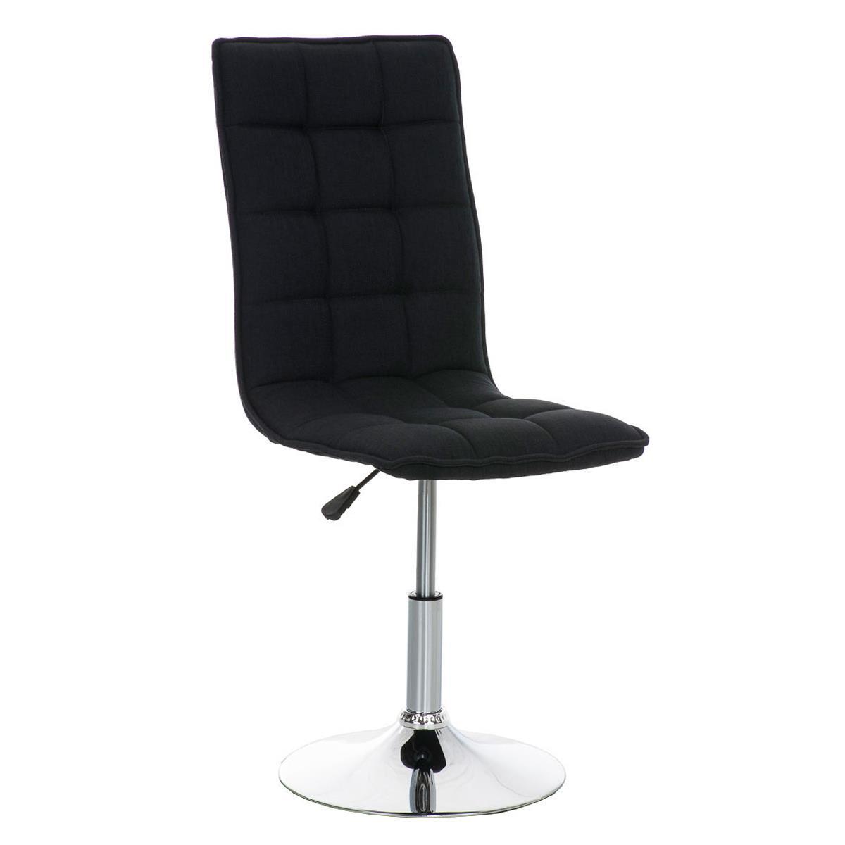 Silla de comedor o cocina pescara en tela color negro for Telas para sillas de cocina