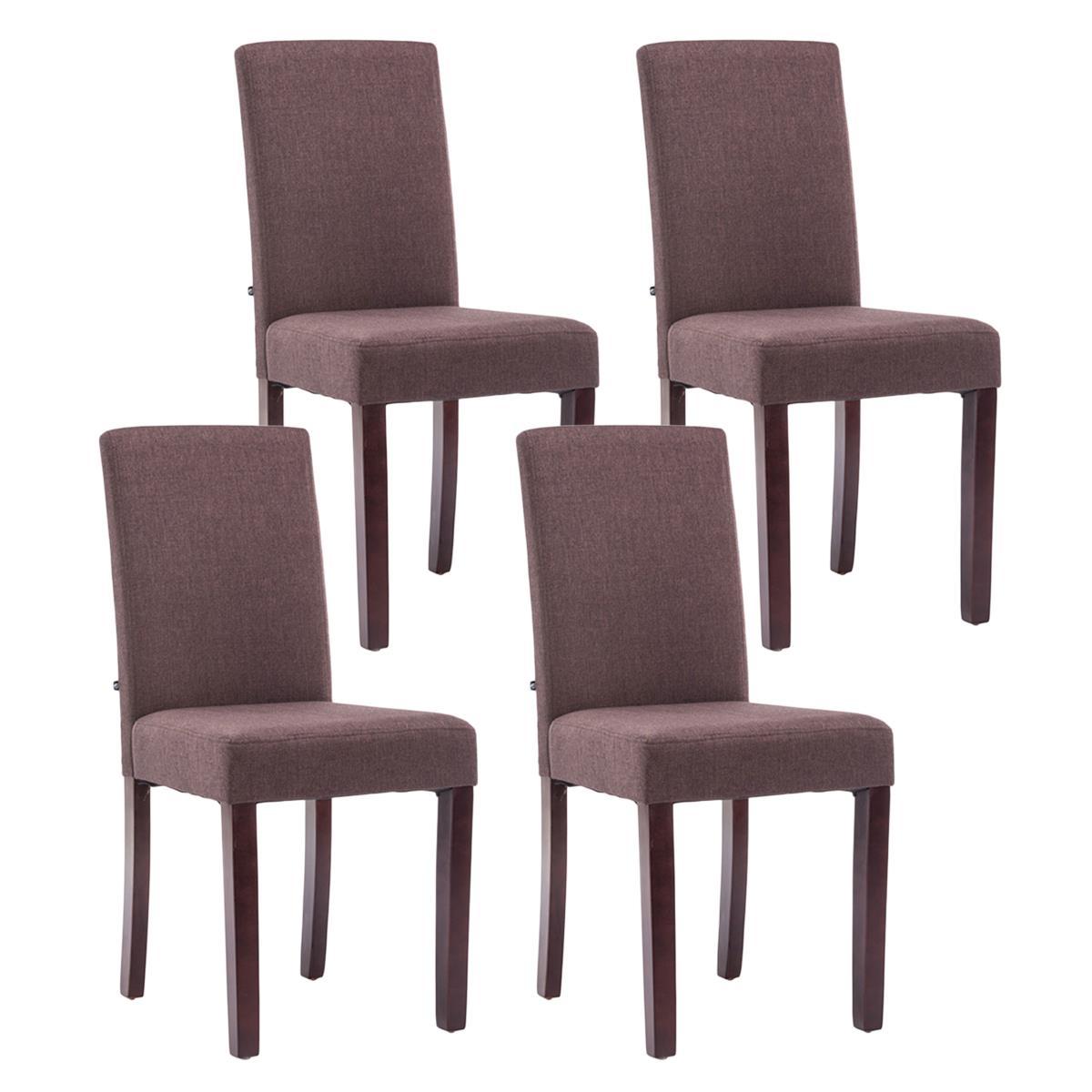 Conjunto de 4 sillas de comedor adria tapizadas en tela for Sillas de tela comedor