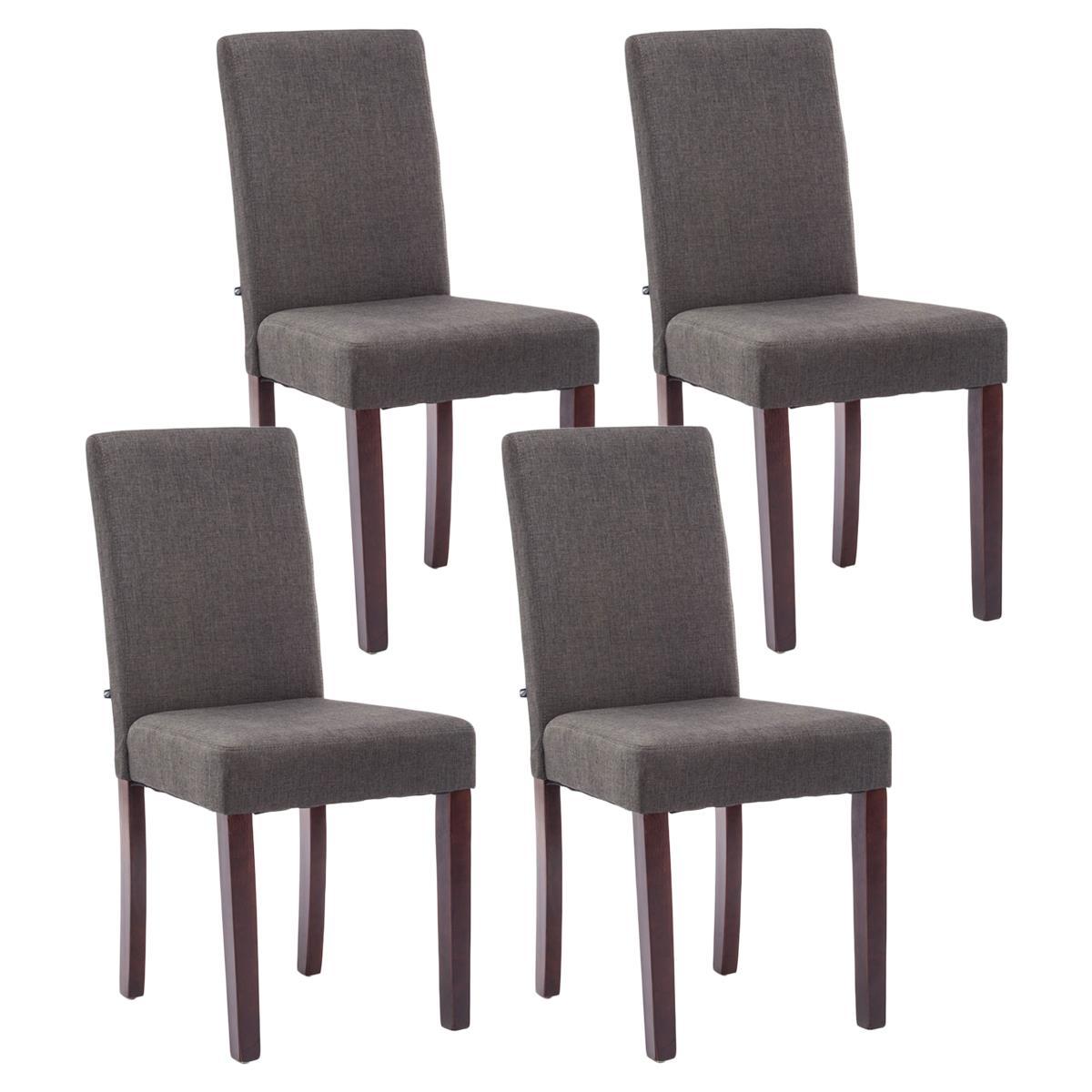 Conjunto de 4 sillas de comedor adria tapizadas en tela for Sillas de comedor tapizadas en gris