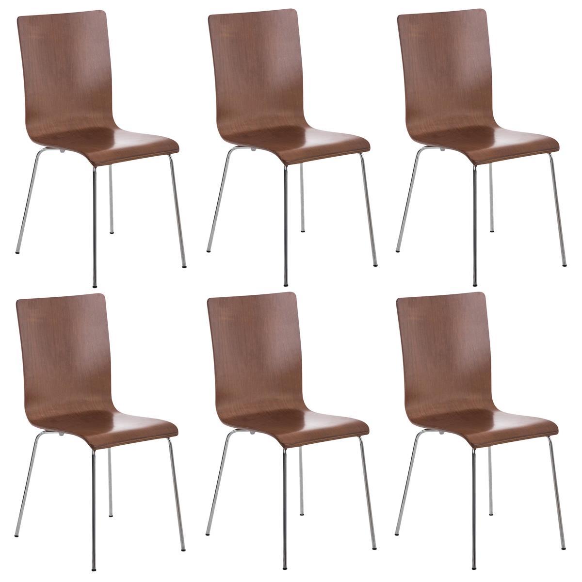 Conjunto de 6 sillas de cocina o comedor lodi en color for Sillas comedor patas metalicas