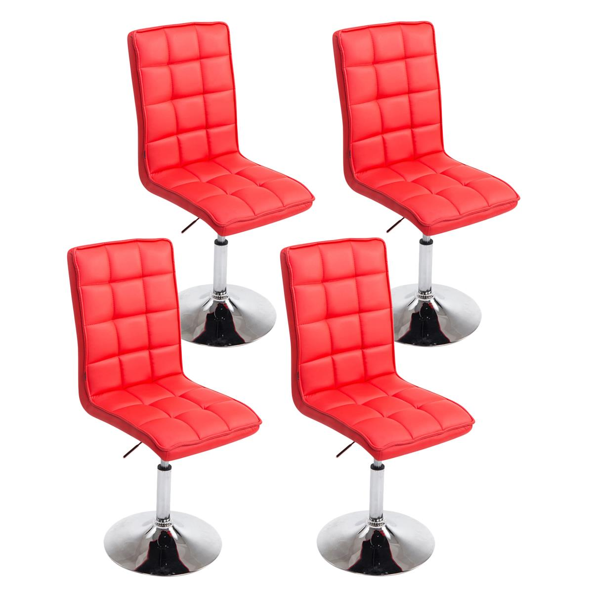 Conjunto de 4 sillas de comedor o cocina osuna piel en for Sillas de comedor tapizadas en piel