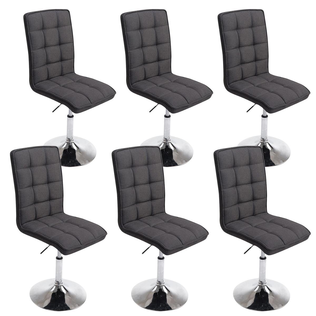 Conjunto de 6 sillas de comedor o cocina osuna en tela for Sillas de comedor tapizadas en gris