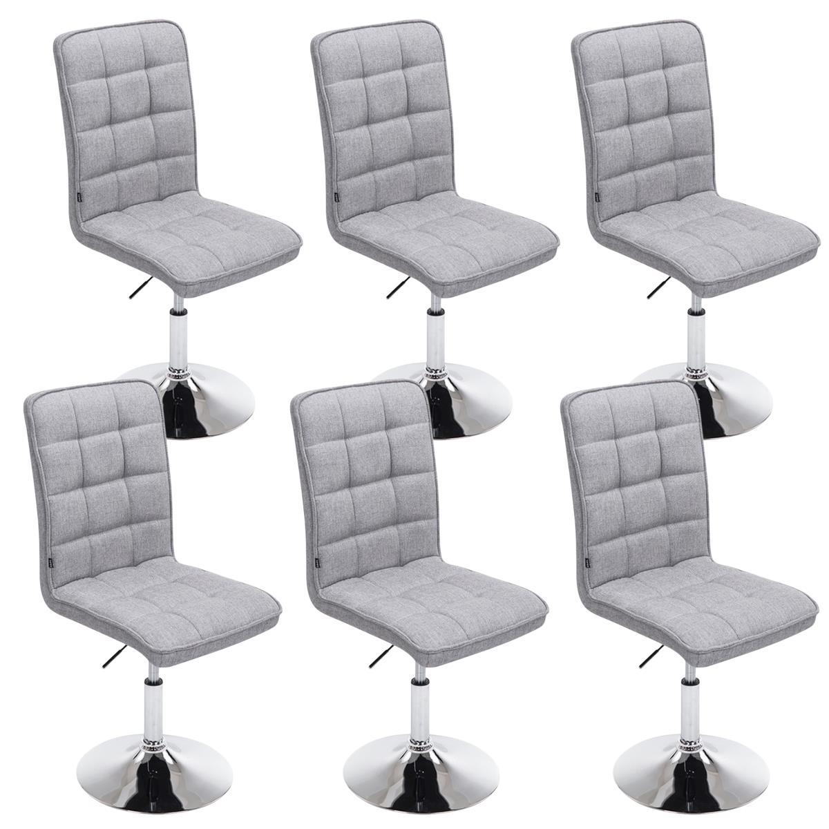 Conjunto de 6 sillas de comedor o cocina osuna en tela for Sillas comedor color gris