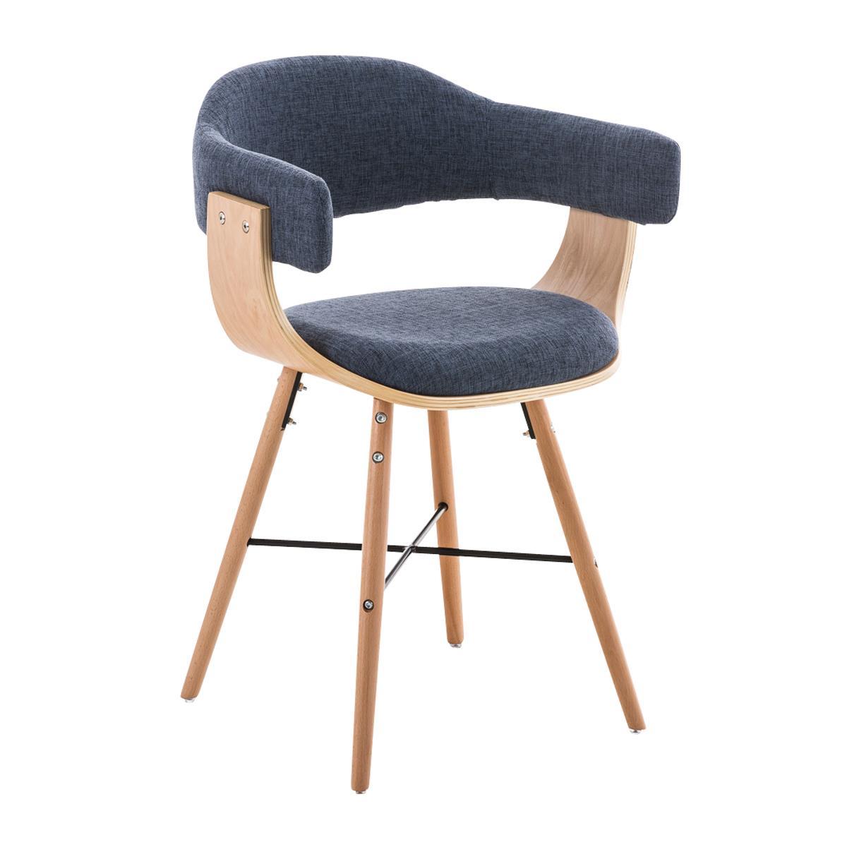 Silla de comedor albatros en tela color azul y estructura for Comedor sillas de colores