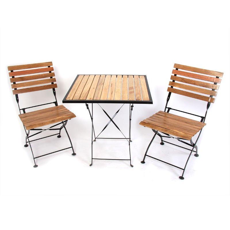 Conjunto muebles de jard n gela 1 mesa cuadrada 2 for Conjunto jardin madera
