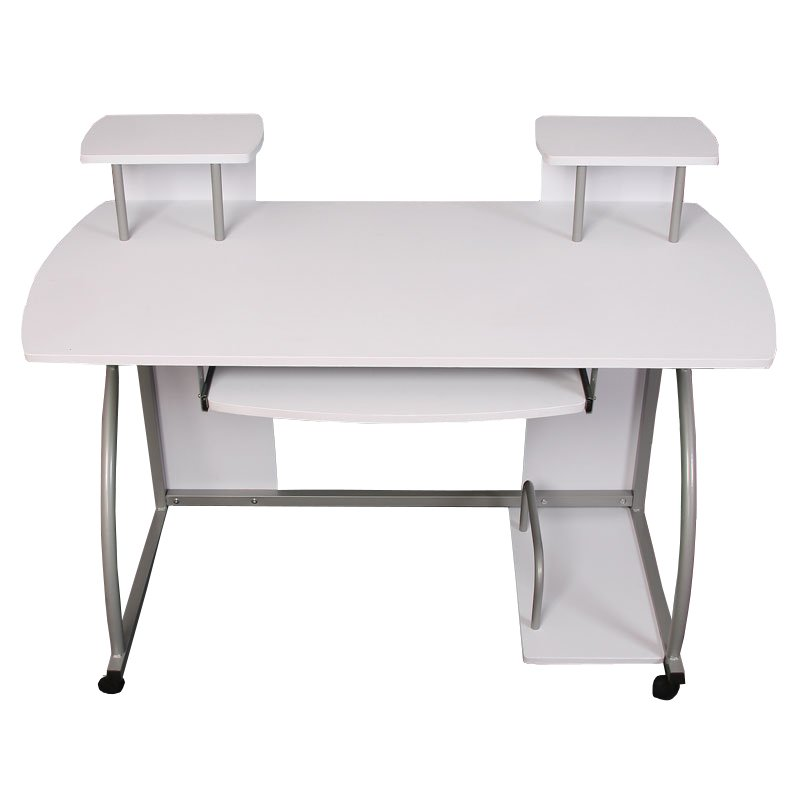 Mesa de ordenador ohio dimensiones 90x115x55cm color blanco for Mesa para ordenador