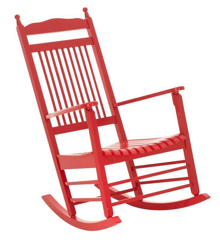 Mecedora de madera alva color rojo demo mecedora de madera alva en color rojo precioso dise o - Mecedora diseno ...