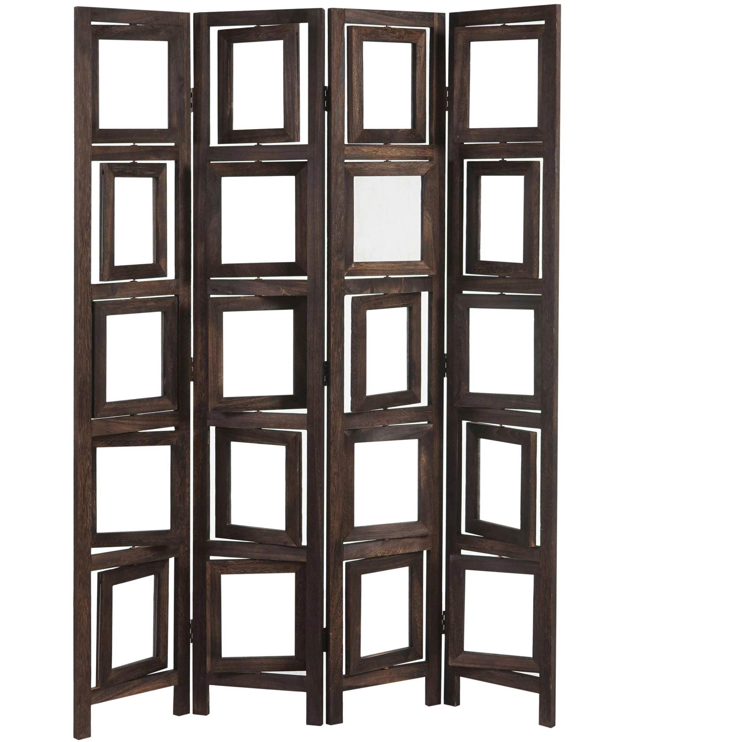 Biombo bibi estructura de madera con marcos para - Biombos de madera ...