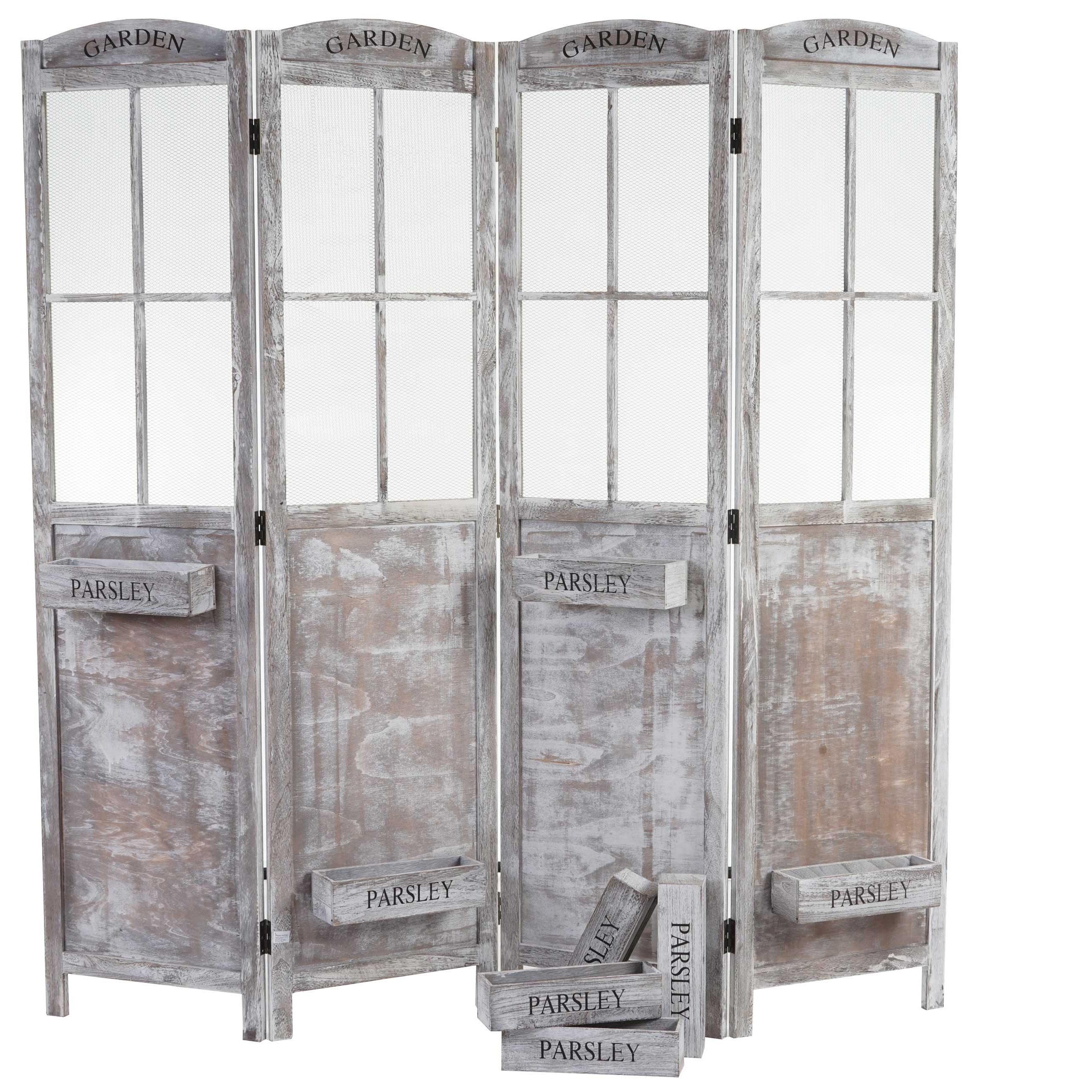 Biombo 4 paneles carina 177x182x20cm - Biombos de madera ...