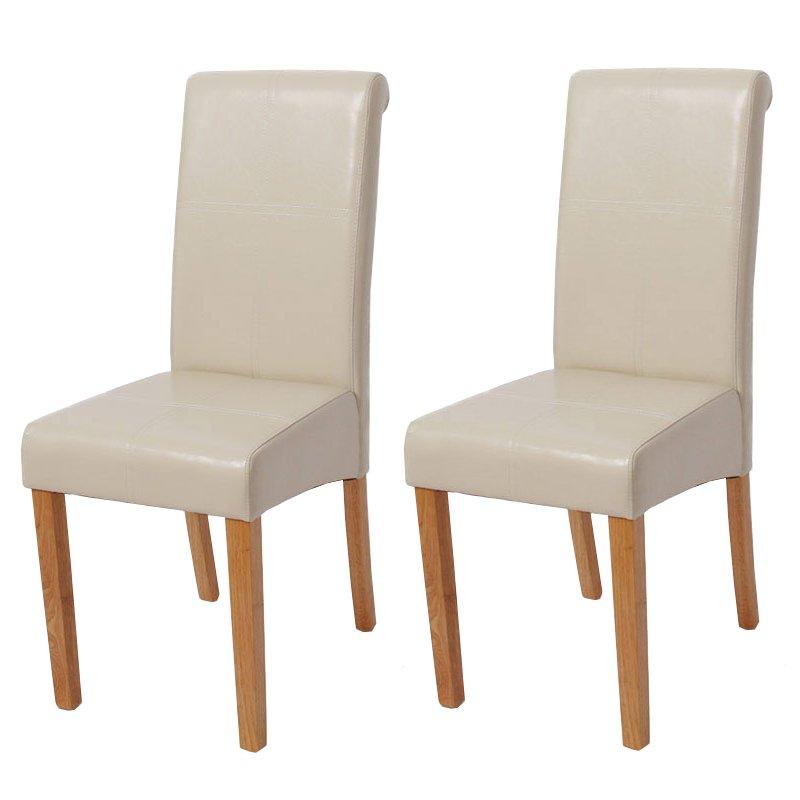 Lote 2 sillas de comedor novara iii con costuras en for Sillas de comedor de cuero
