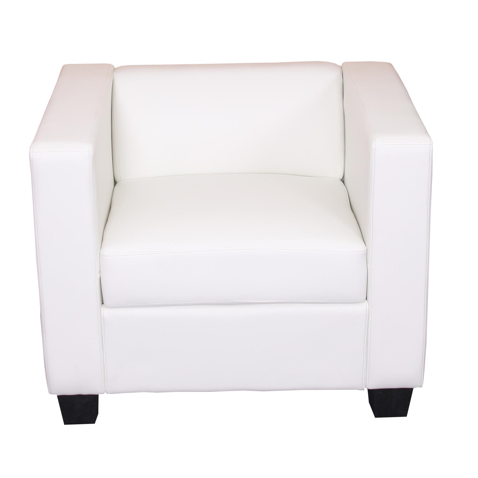Sof individual modelo lille en cuero blanco - Sofa cuero blanco ...