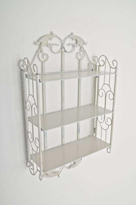 Estanteria de pared c27 plegable en hierro blanco roto estanteria de pared c27 plegable en Color blanco roto para paredes