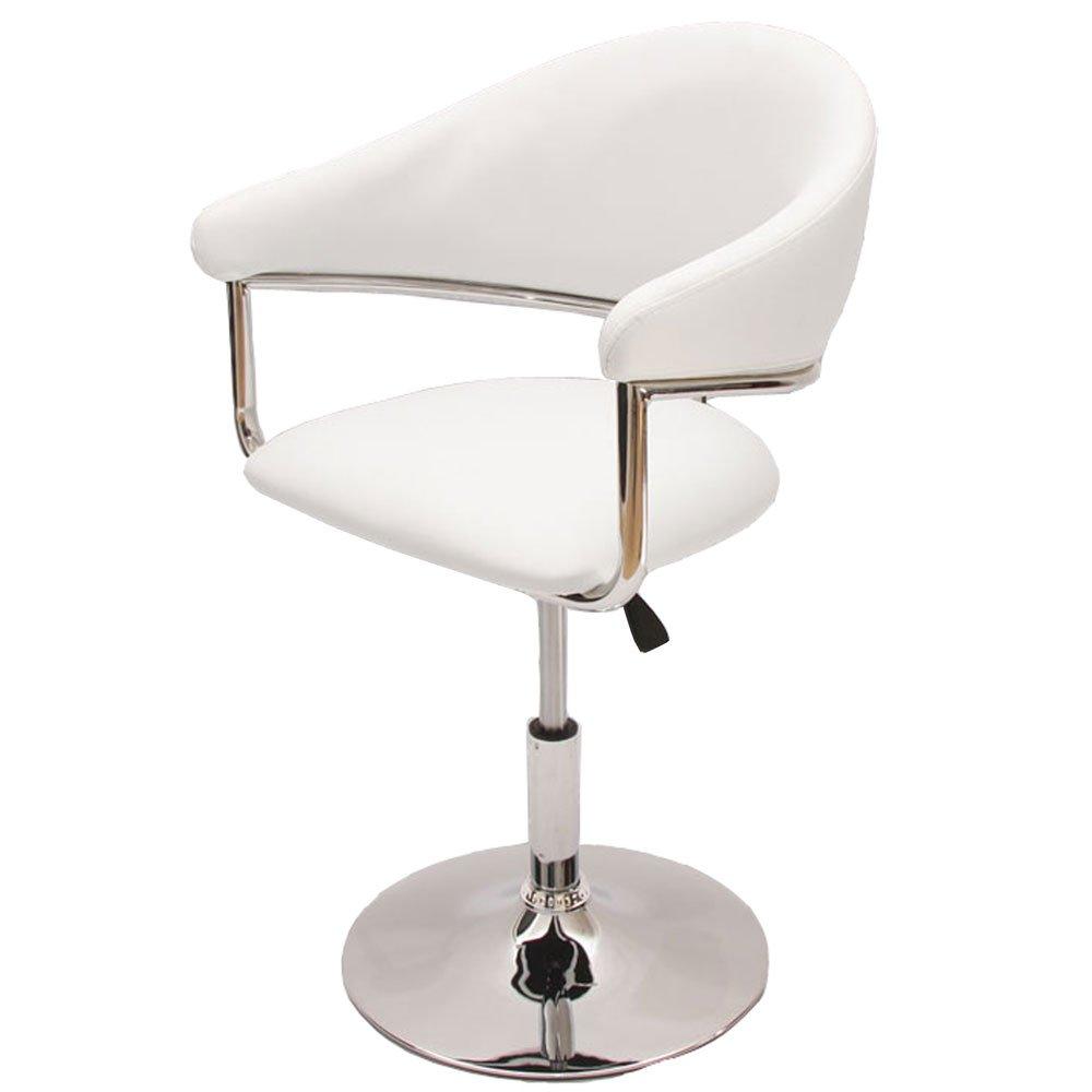 Silla de comedor como en polipiel color blanco silla for Sillas de piel para comedor