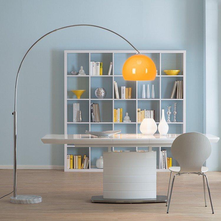 L mpara de ara a en color negro l mpara arco lounge ii for Marmol color naranja