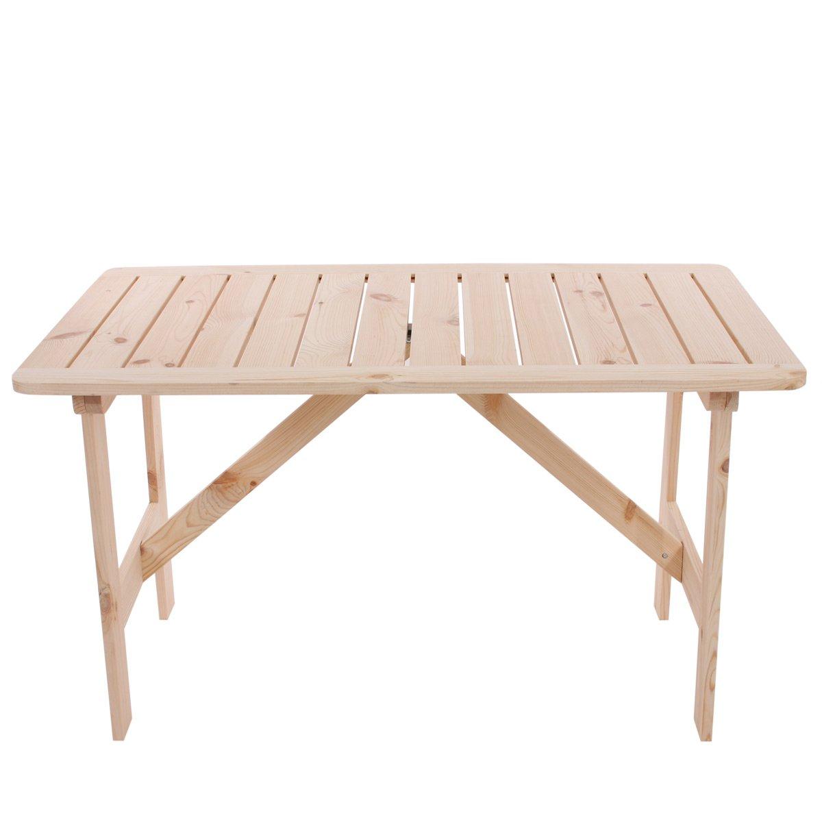 Mesa de jard n o terraza copenhaguen en madera 130 x 80 - Mesas terraza madera ...