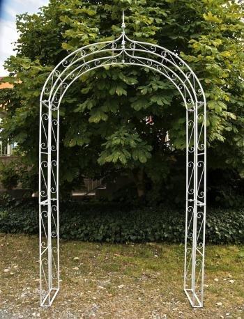 Arco metlico para jardn LENZ blanco 264x147x37 cm Arco metlico