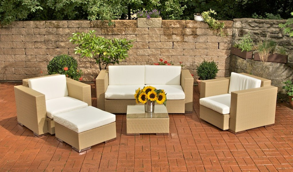 Conjunto de jard n sofa arena 2 plazas 2 individuales conjunto sofas de jard n 1 sofa 2 - Sofa color arena ...