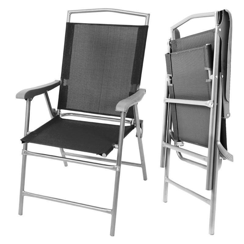 Lote 2 sillas de camping m13 plegables color antracita - Sillas plegables camping ...