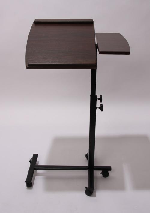 Mesa de ordenador port til m9258 marr n oscuro mesa de for Mesa para ordenador portatil