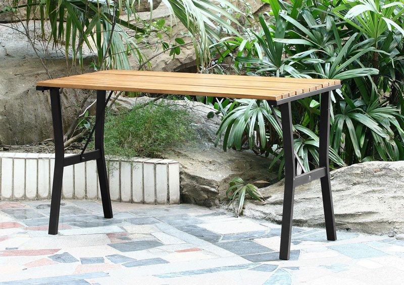 Mesa de jard n granada en madera de teca mesa de jard n for Jardin botanico granada precio