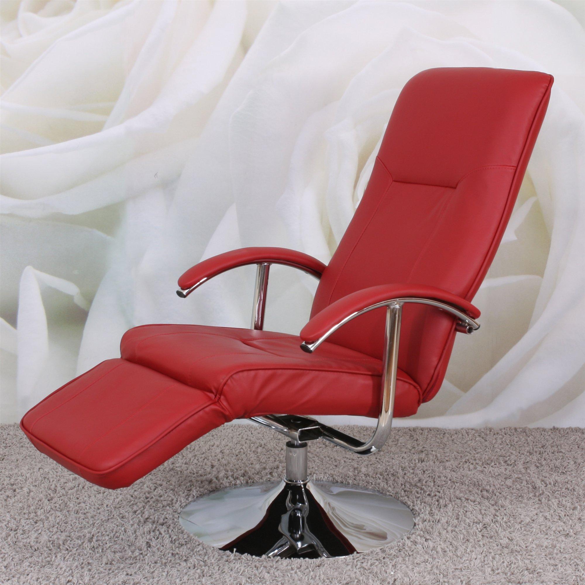 Sill n relax reclinable modelo apia ii en piel color roja - Sillon reclinable piel ...