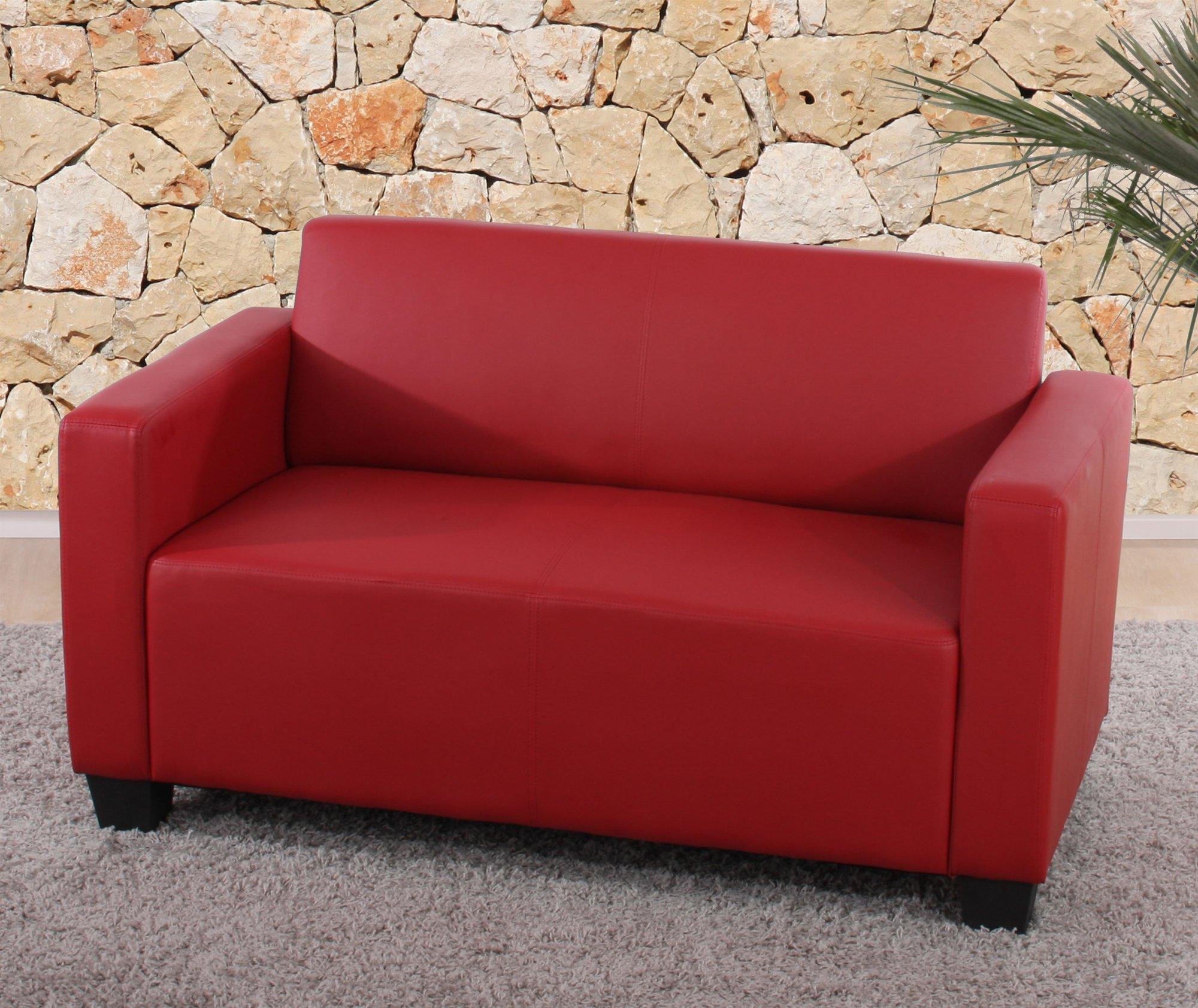 Asombroso Muebles Sofá De Dos Plazas De Cuero Rojo Viñeta - Muebles ...
