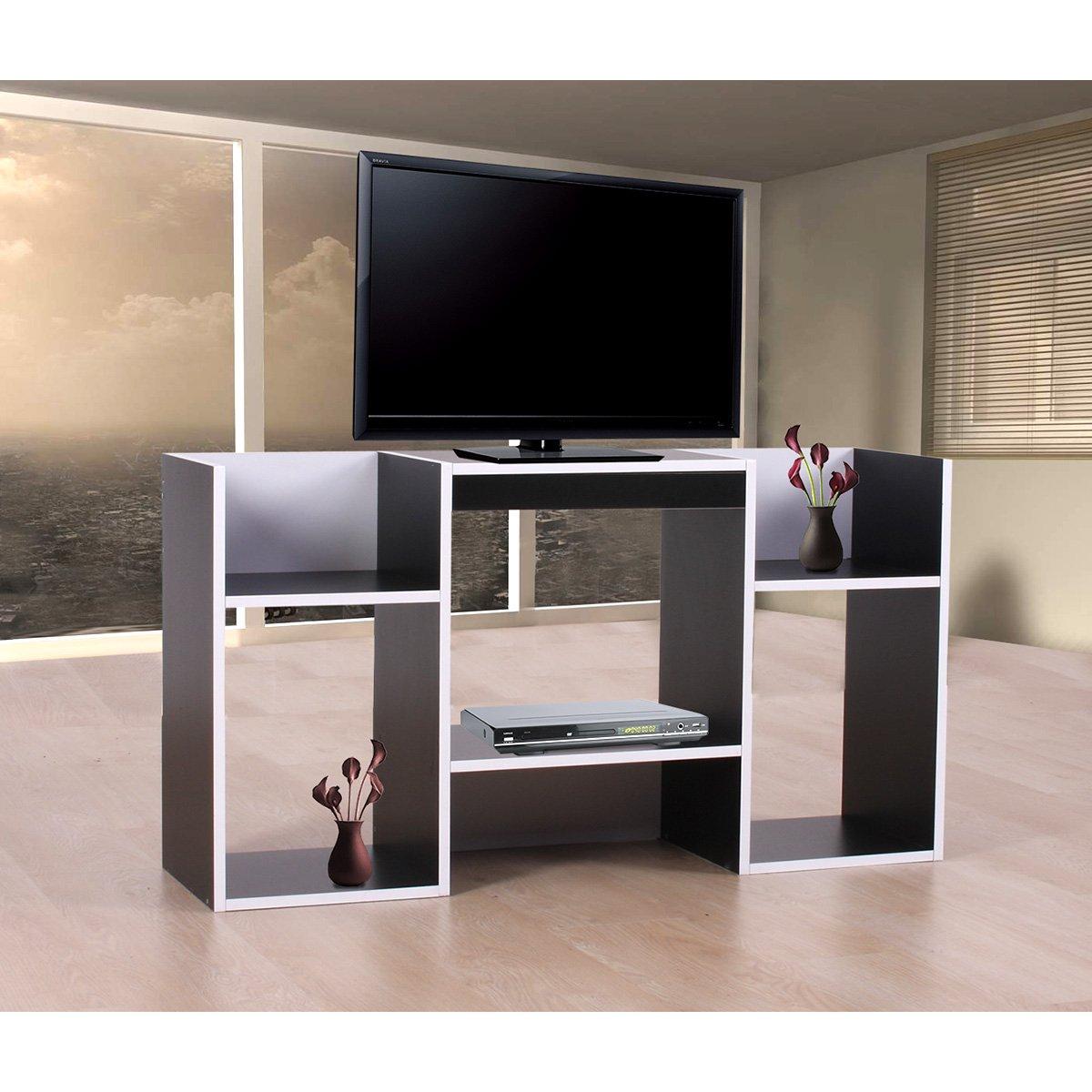 Mueble para tv soporte para tv de dise o 109x59x30 cm negro for Mueble con soporte para tv
