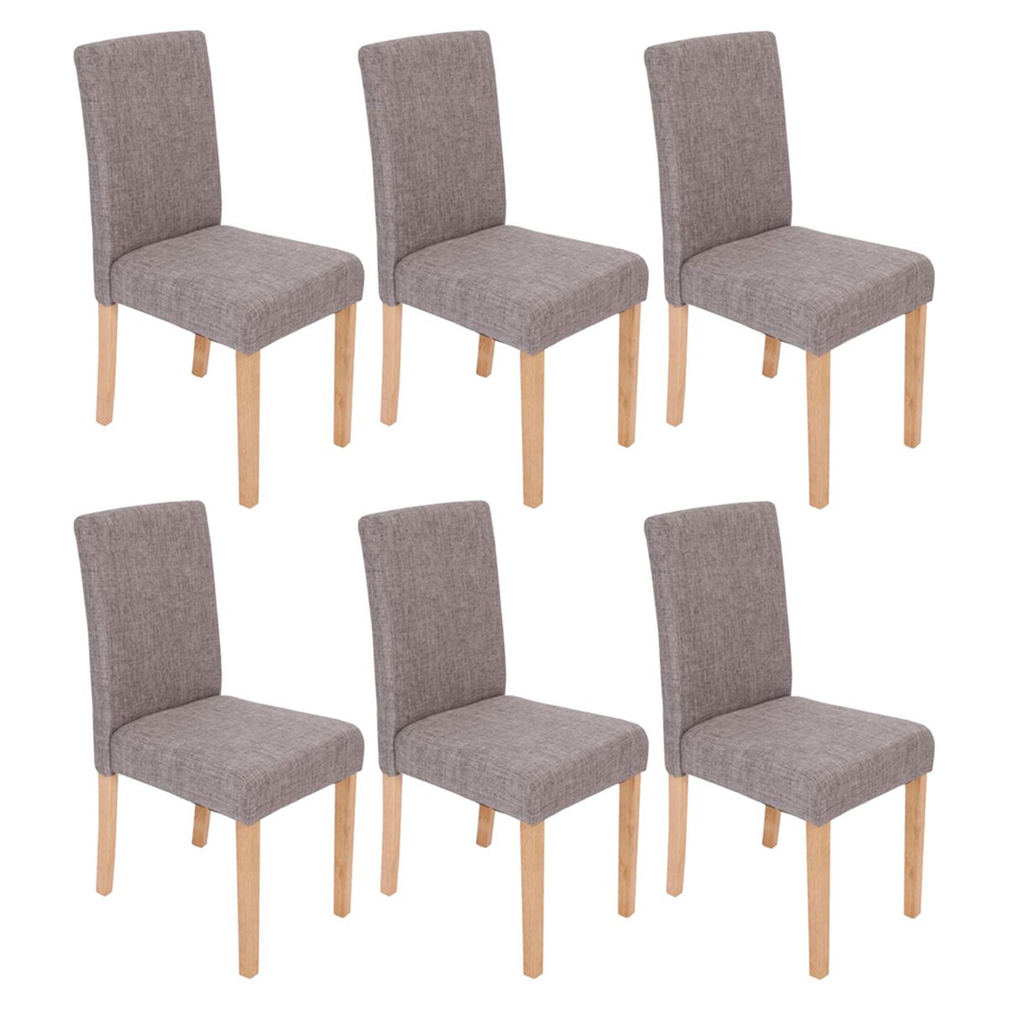 Lote 6 sillas de comedor litau tela precioso dise o tela for Sillas para comedor tapizadas en tela