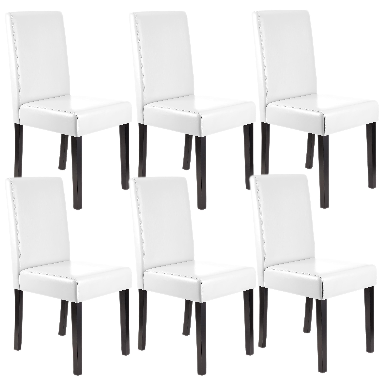 Lote 6 sillas comedor litau piel natural blanca y patas - Sillas comedor piel ...