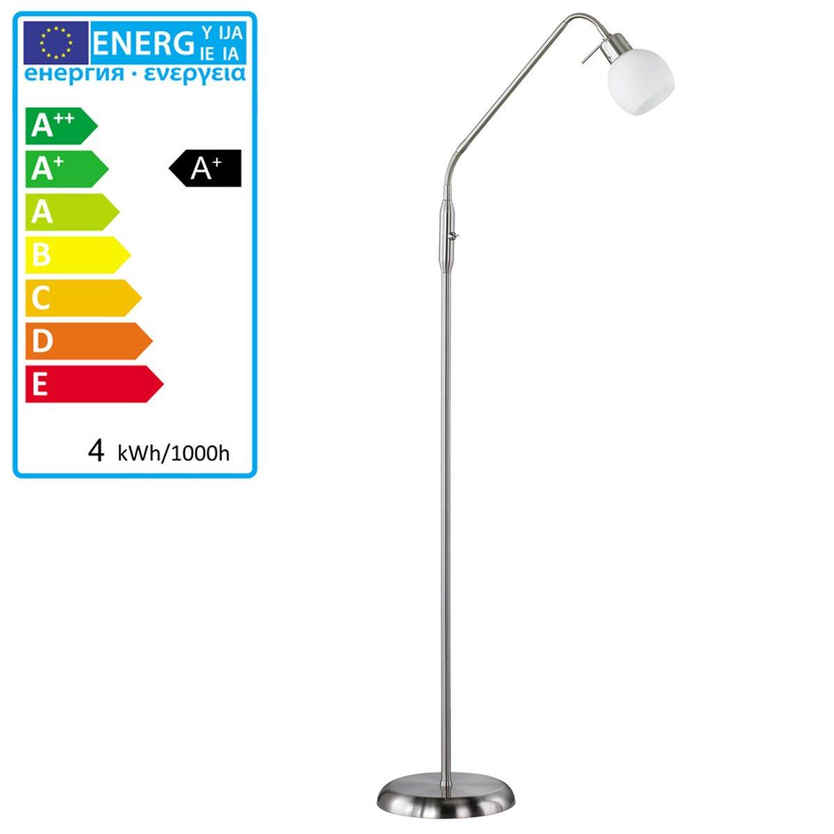 L mpara de pie para iluminaci n led con brazo flexible - Iluminacion con led ...