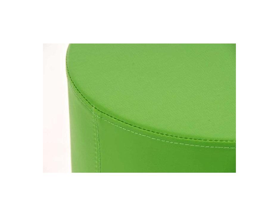 Taburete de cocina walser en piel verde y estructura - Taburetes de piel ...