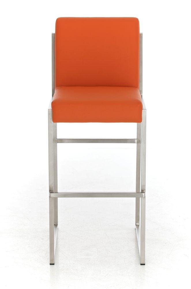 Taburete para barra malak en piel naranja y estructura de - Taburetes para barra ...