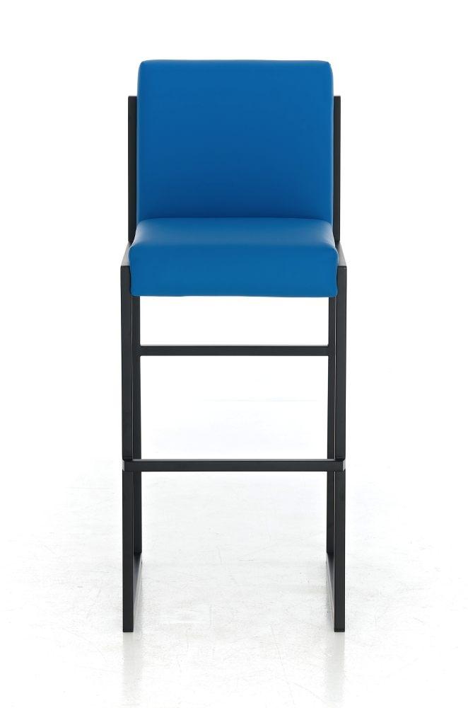 Taburete para barra malak en piel azul y estructura - Taburetes para barra ...